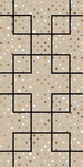 幾何学(四角)ゴールド