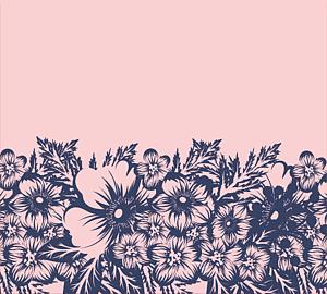 ピンク花柄