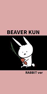 BEAVER KUN RABBITver にんじんぴんく2