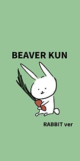 BEAVER KUN RABBITver にんじんグリーン