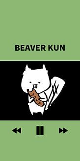 BEAVER KUNのケース コッペパンをそえてグリーン