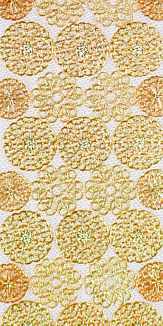 gold flowers(white)