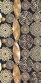antique gold flowers(black)