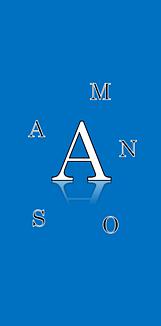 アルファベットのケース(青)