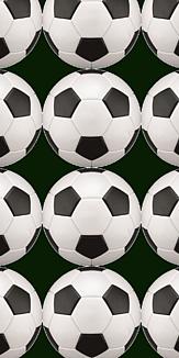 サッカーボール モノトーン
