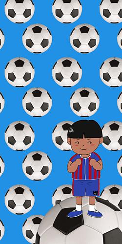 サッカー少年⚽️ブルー