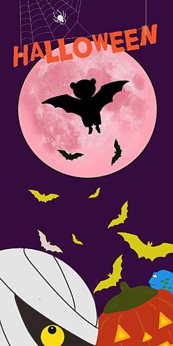 ハロウィン ピンクの月