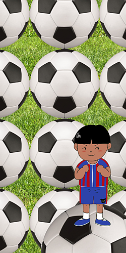 サッカー選手⚽️芝生