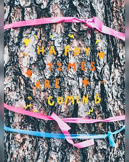 山歩きの道しるべ(ピンクと水色のリボン)