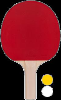 卓球ラケット、バックハンドで持っている様に見える?(赤)