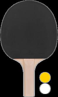 卓球ラケット、バックハンドで持っている様に見える?(黒)