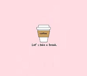 テイクアウトコーヒー ピンク
