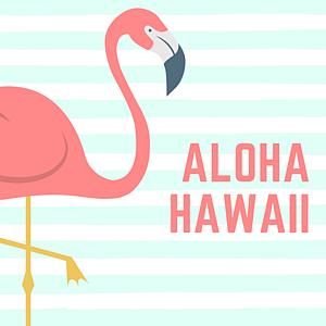 アロハ ハワイ フラミンゴ