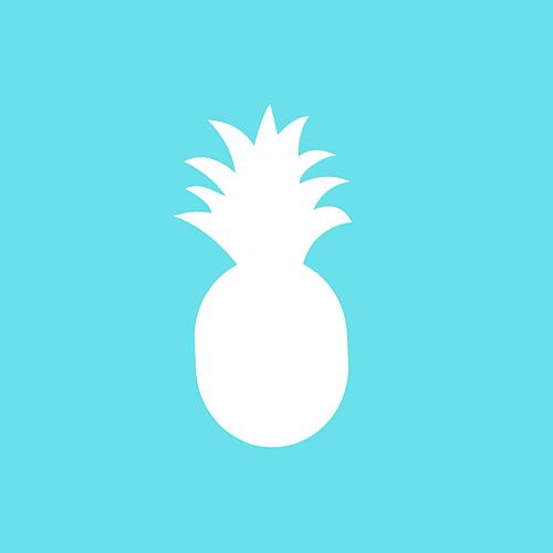 ターコイズブルー パイナップル