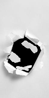 破れた紙のケースフレーム