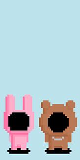 ドット絵ウサギ&熊