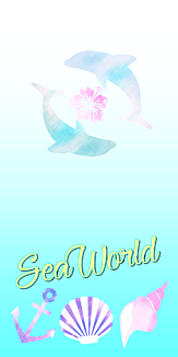 SeaWorld イルカ オリジナルスマホケース
