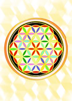 神聖幾何学模様フラワーオブライフ