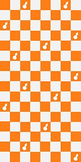 瓢箪チェック 橙