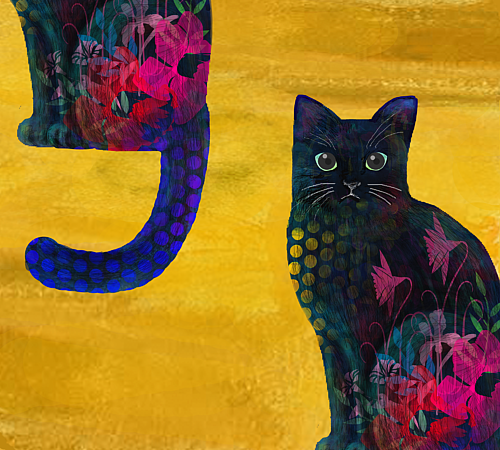猫・黒猫 手帳型