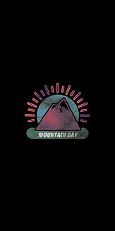 mountain day black