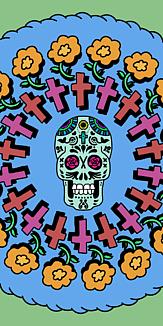 メキシカンスカル「カラベラ」~マリーゴールド ブルー