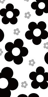モノトーン花柄