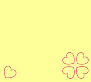四葉のハート(黄)