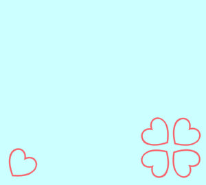 四葉のハート(青)
