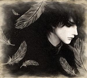 堕天使 - 色鉛筆画