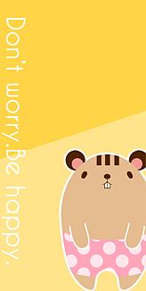 taro イラストケース パンツりす(ツートン)
