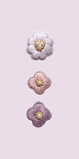 刺繍のお花 ピンク