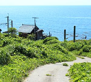 未舗装道路 日本海