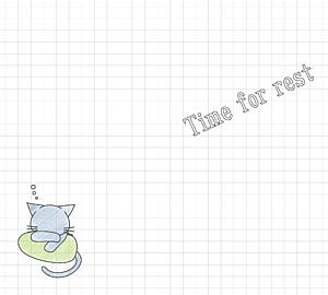 クッションと猫 -Time of rest- 手帳ver.