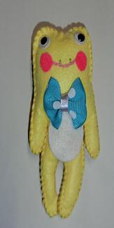 カエルの人さん(黄色)