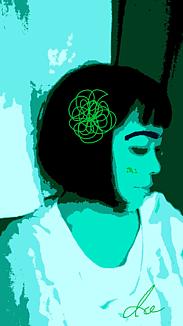 『髪飾りを付けた女の子』④