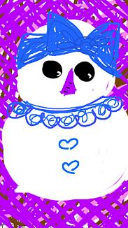 『雪だるまgirl』パープル系