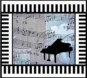 『pianoと音符~鍵盤フレーム~』