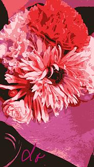 『ピンク系の花束』