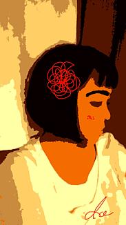 『髪飾りを付けた女の子』⑧