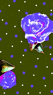 〔水玉と花⑧〕