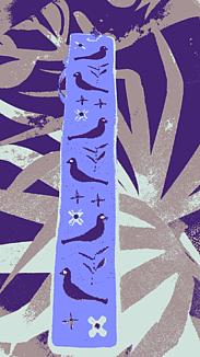 『鳥刺繍の栞ーしおりー』パープル系