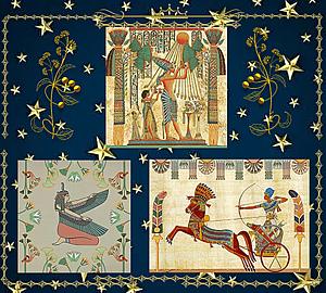 〔エジプトの壁画〕