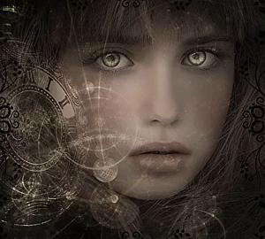『美しい瞳の少女』