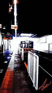 〈ホーム入線の電車②〉