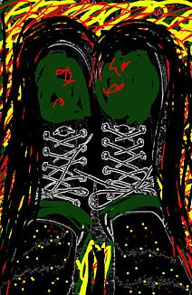 『ブーツを履いて(モノトーン&グリーン系)』~ブーツ編~