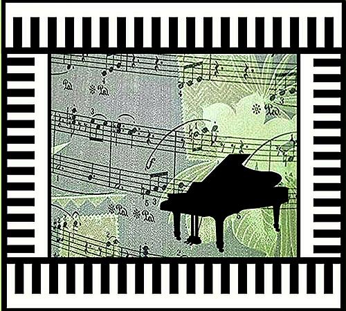 『ピアノと音符~鍵盤フレーム~④』