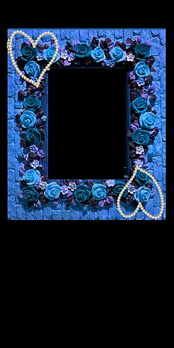 『オリジナルのフレーム&真珠のハート』