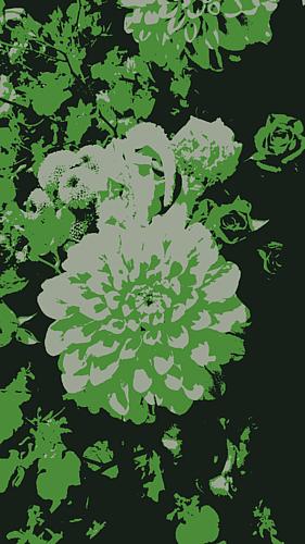 『秋冬の花々(鴬色)』~大輪のダリア~