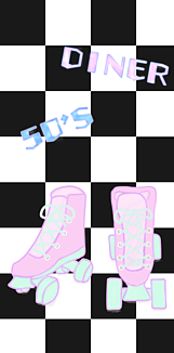 50's DINER ローラースケート
